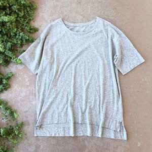 Everlane Gray Crew Neck Drop Cut Hem Tee